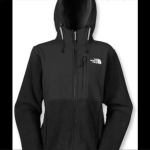 The North Face Black Hoodie Denali Jacket Size XS